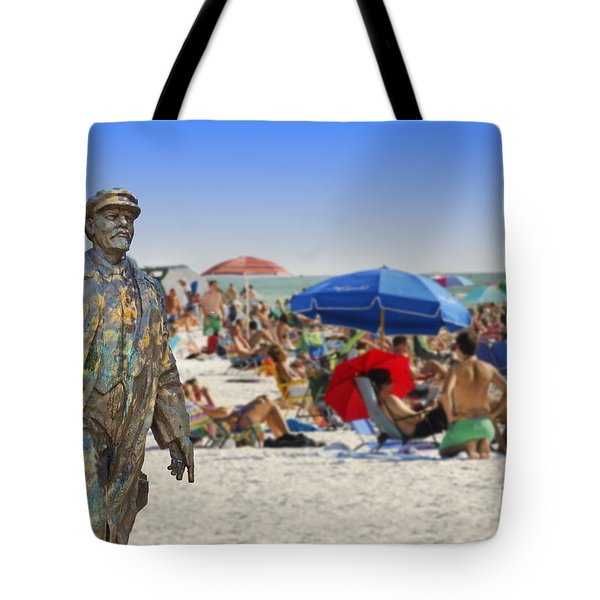 Lenin Goes To The Beach  Tote Bag