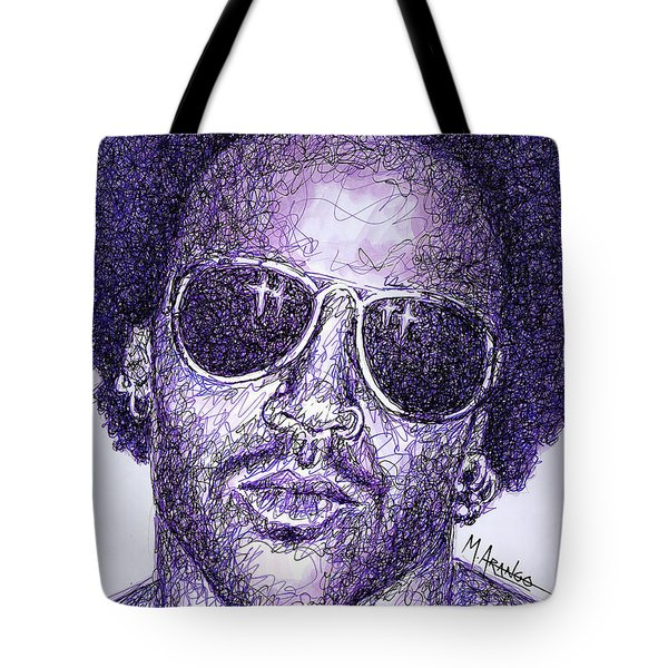 Lenny Kravitz Tote Bag by Maria Arango
