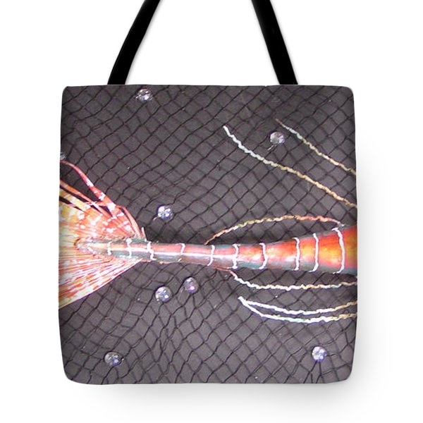 Lenny The Lipster Fish Tote Bag by Dan Townsend