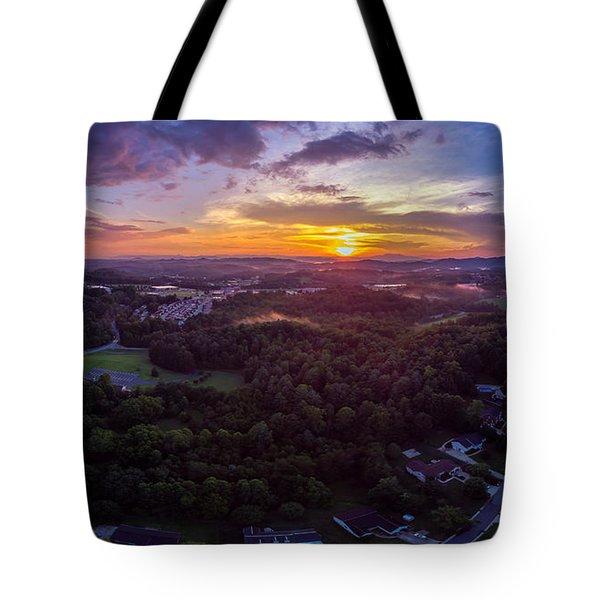 Lenoir North Carolina  Sunset Tote Bag
