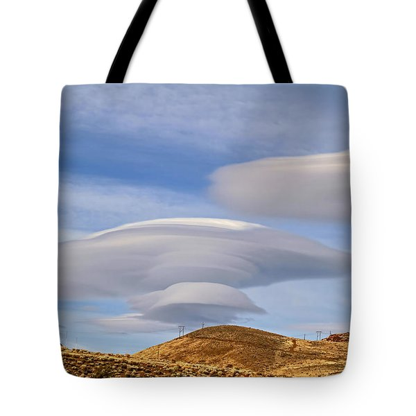 Lenticular Landing Tote Bag by Donna Kennedy