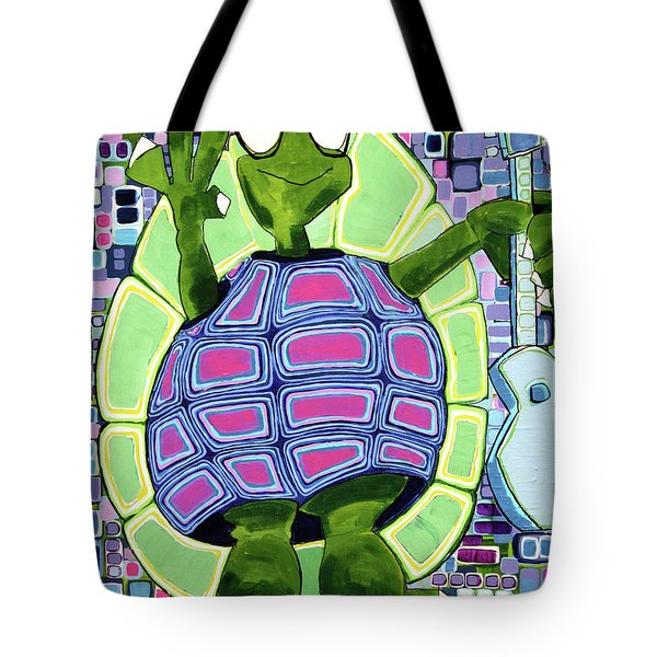 Tote Bag featuring the painting Leo At 21 by Donna Howard