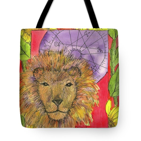 Tote Bag featuring the painting Leo by Cathie Richardson