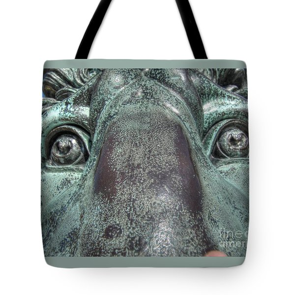 Leo Eyes Tote Bag by Yury Bashkin