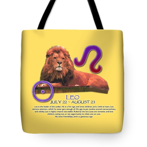 Leo Sun Sign Tote Bag