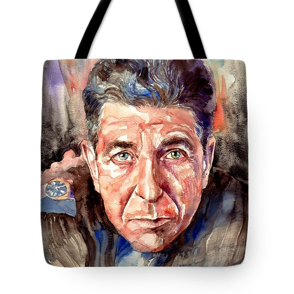 Leonard Cohen Painting Tote Bag