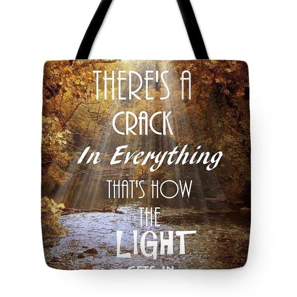 Leonard Cohen Quote Tote Bag