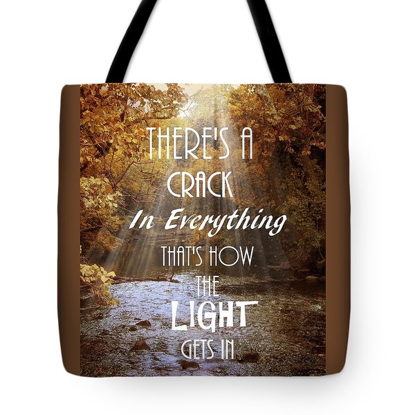Leonard Cohen Quote Tote Bag