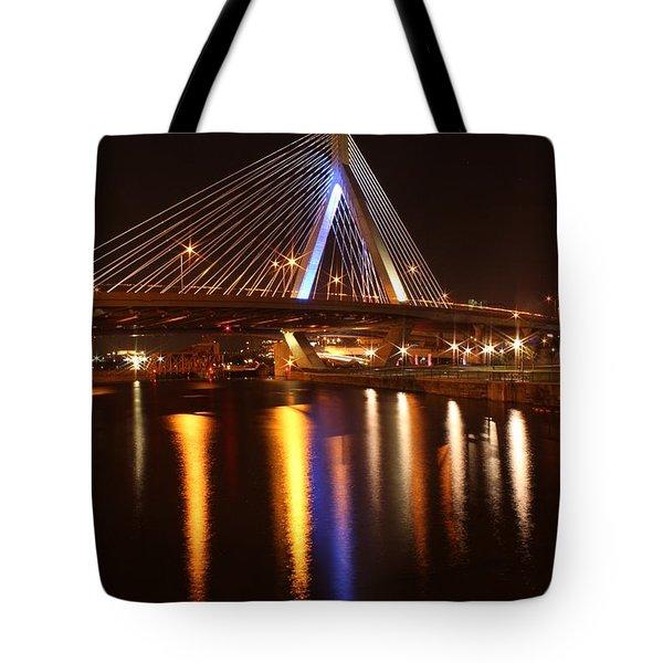 Leonard P. Zakim Bunker Hill Bridge Reflection 2 Tote Bag