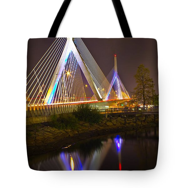 Leonard P. Zakim Bunker Hill Bridge Reflection Tote Bag