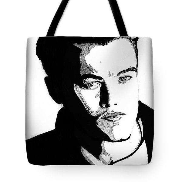 Leonardo Dicaprio Portrait Tote Bag by Alban Dizdari