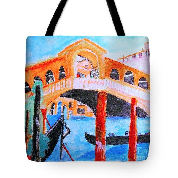 Leonardo Festival Of Venice Tote Bag