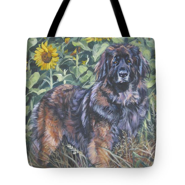 Leonberger In Sunflowers Tote Bag by Lee Ann Shepard