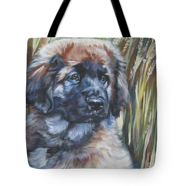 Leonberger Pup Tote Bag by Lee Ann Shepard