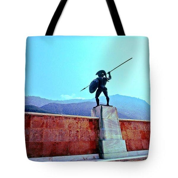 Leonidas At Thermopylae Ver 4 Tote Bag