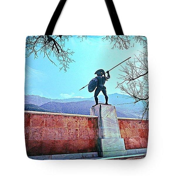 Leonidas At Thermopylae Ver 5 Tote Bag