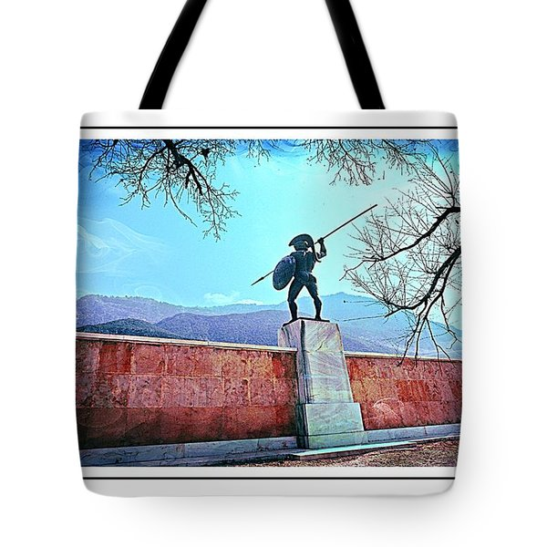 Leonidas At Thermopylae Ver 6 Tote Bag