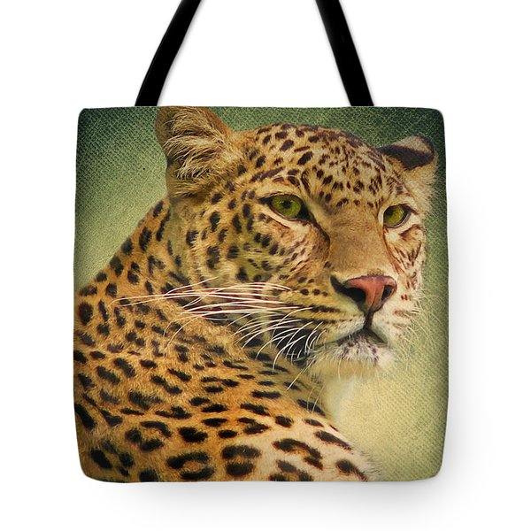 Leopard Tote Bag by Angela Doelling AD DESIGN Photo and PhotoArt