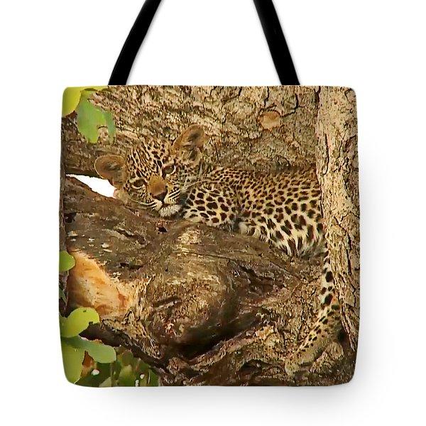 Leopard Cub Tote Bag