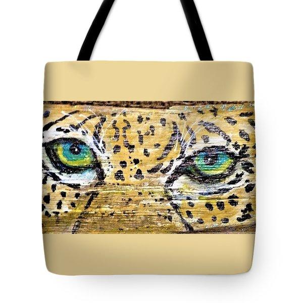 Leopard Eyes Tote Bag by Ann Michelle Swadener