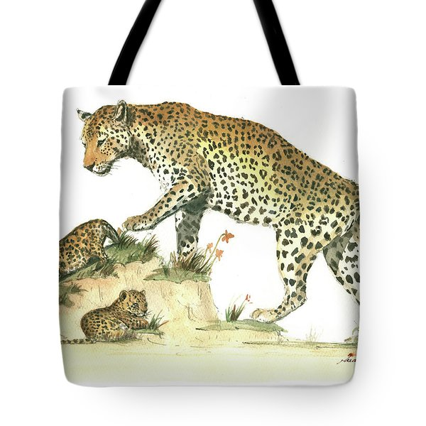 Leopard Family Tote Bag