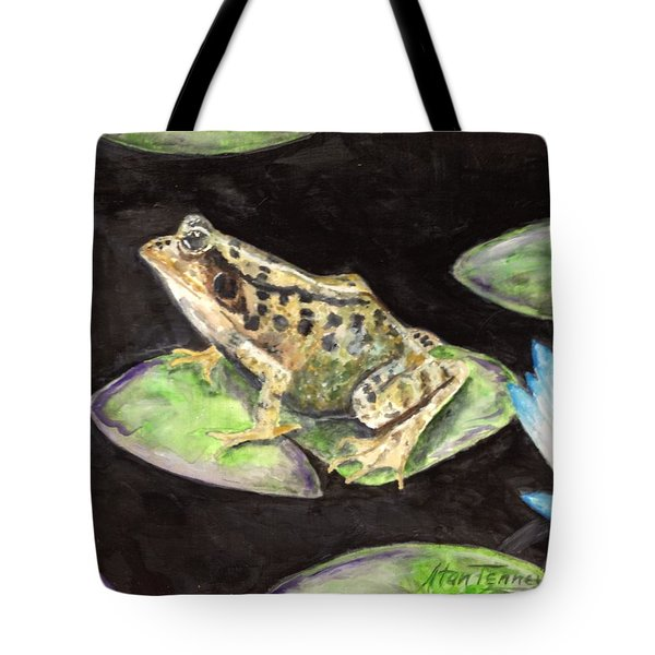 Leopard Frog Tote Bag by Stan Tenney