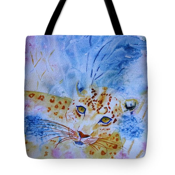 Leopard Hide And Seek Tote Bag