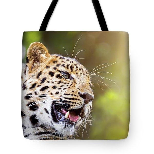 Leopard In Sunlight Tote Bag