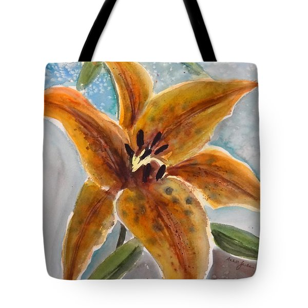 Leopard Lily Tote Bag