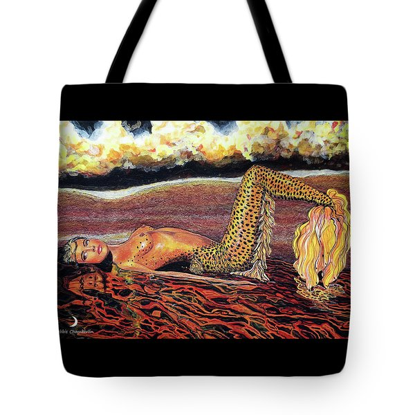 Leopard Mermaid Tote Bag