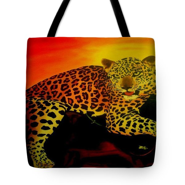 Leopard On A Tree Tote Bag