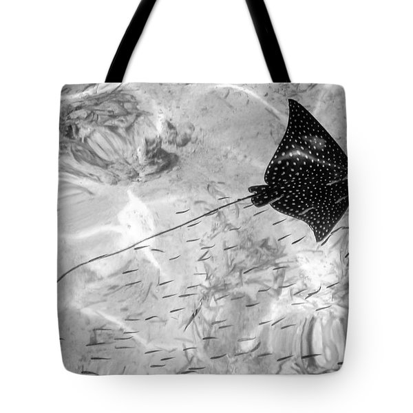 Leopard Ray In Belize Tote Bag