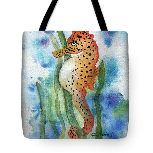 Leopard Seahorse Tote Bag