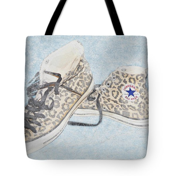 Leopard Spotted Converse Tote Bag