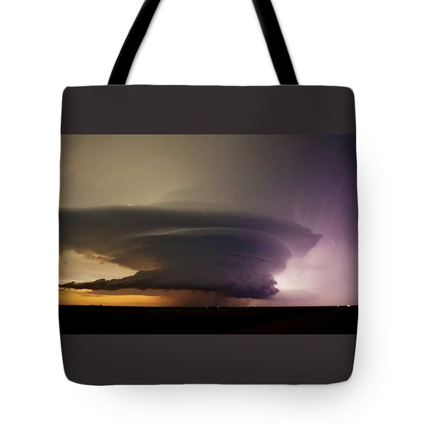Tote Bag featuring the photograph Leoti, Ks Supercell by Ed Sweeney