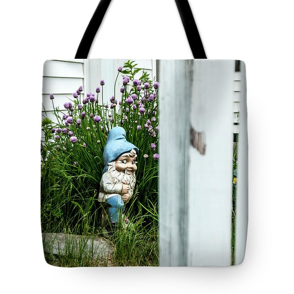 Leprechaun Munching Chives Tote Bag