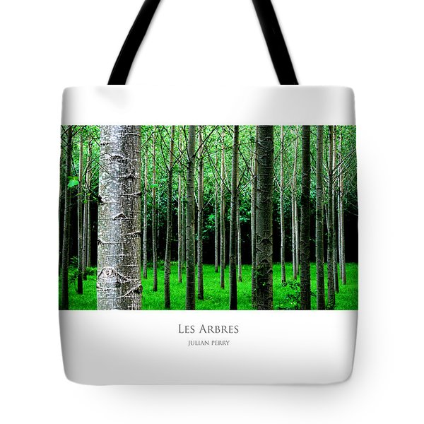 Tote Bag featuring the digital art Les Arbres by Julian Perry