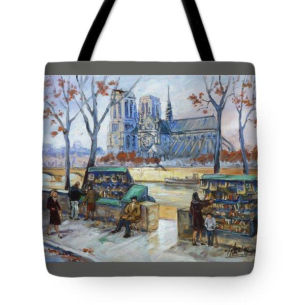Les Bouquinistes, Seine, Paris Tote Bag