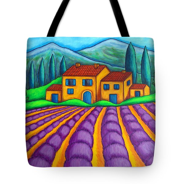 Les Couleurs De Provence Tote Bag by Lisa  Lorenz
