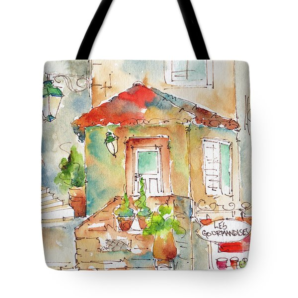 Les Gourmandises St Paul De Vence Tote Bag by Pat Katz