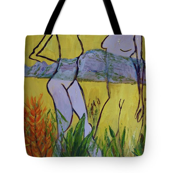 Tote Bag featuring the painting Les Nymphs D'aureille by Paul McKey