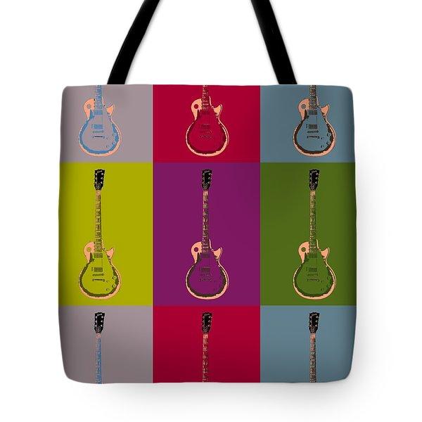 Les Paul Colorful Poster Tote Bag