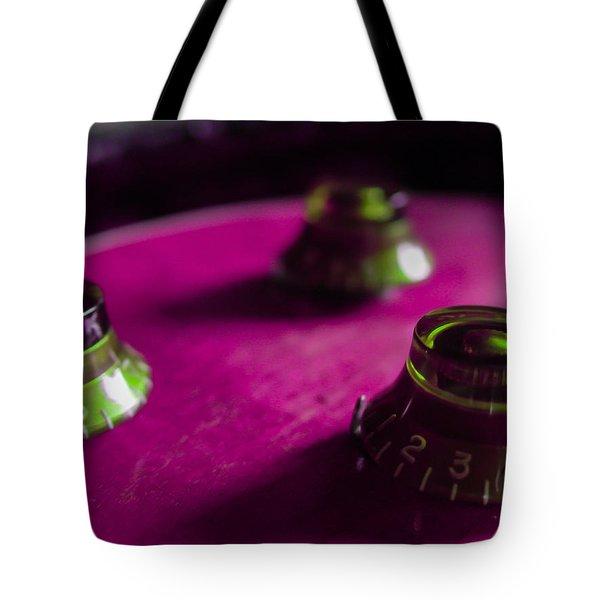 Guitar Controls Series Pink And Green Tote Bag
