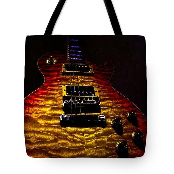 Guitar Custom Quilt Top Spotlight Series Tote Bag