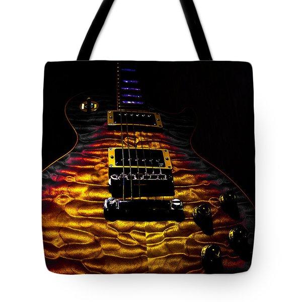 Tri-burst Quilt Top Guitar Spotlight Series Tote Bag