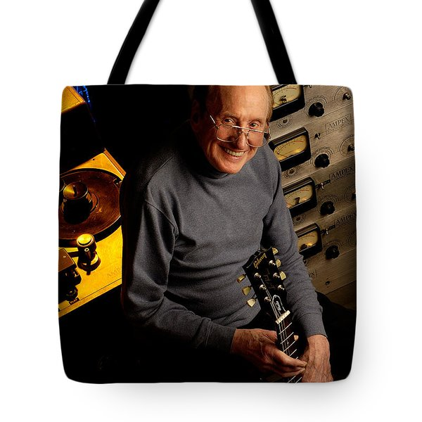Les Paul With The Octopus By Gene Martin Tote Bag