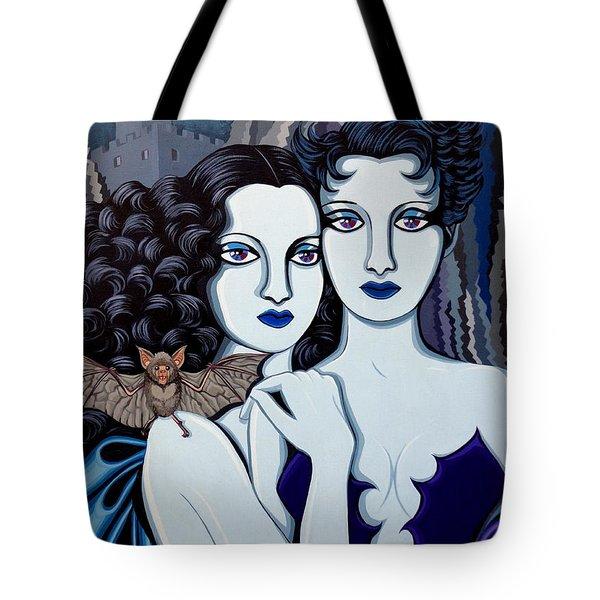 Les Vamperes Bleu Tote Bag