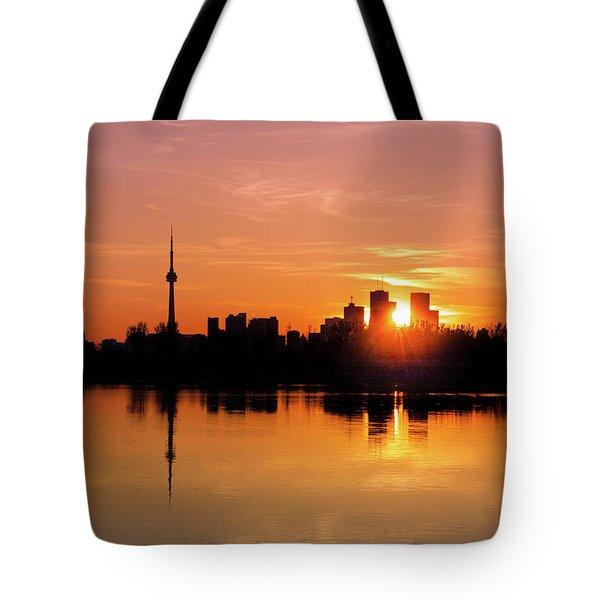 Leslie Street Spit Toronto Canada Sunset Tote Bag
