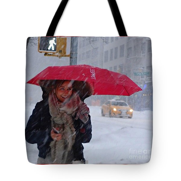L Esprit De New York - Winter In New York Tote Bag by Miriam Danar