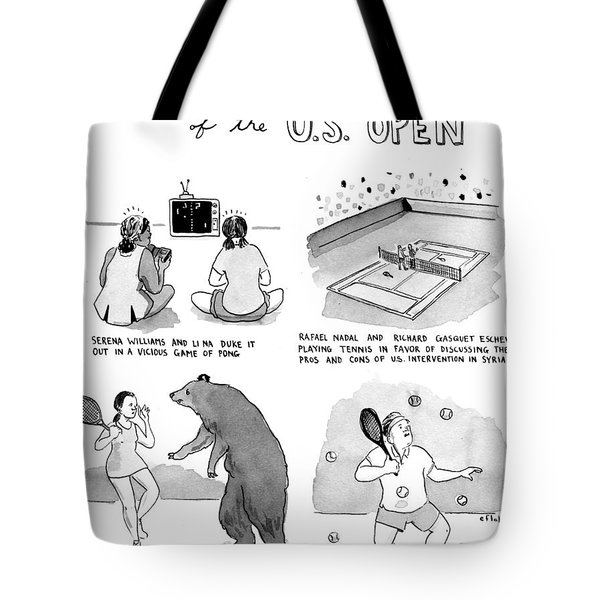 Less Celebrated Moments Of The U.s. Open Tote Bag by Emily Flake